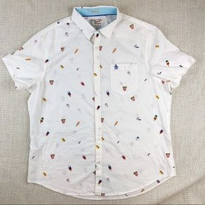 Original Penguin Summer Print Heritage Slim Shirt